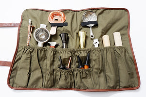 Bartenders Roll Up Kit Bag Barware Mixologist Bag Bar Tool Bag