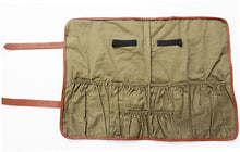 Load image into Gallery viewer, Bartenders Roll Up Kit Bag Barware Mixologist Bag Bar Tool Bag