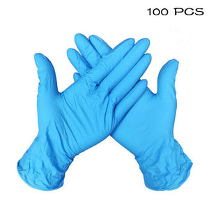 10/50/100 PCS 5 Color Disposable Gloves Latex Dishwashing/Kitchen/Rubber/Garden Gloves Universal For Left Right Hand