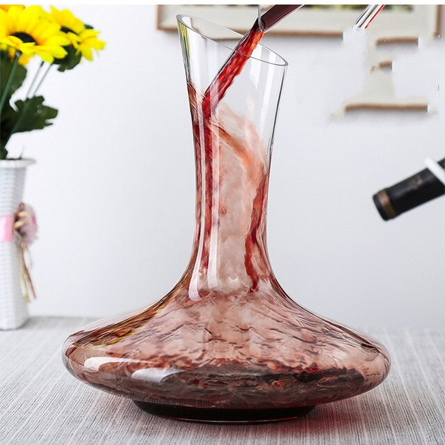 1100ml Crystal U-shaped Multiple Styles Wine Decanter Gift Box Harp Swan Decanter Creative Wine Separator Bar Supplies