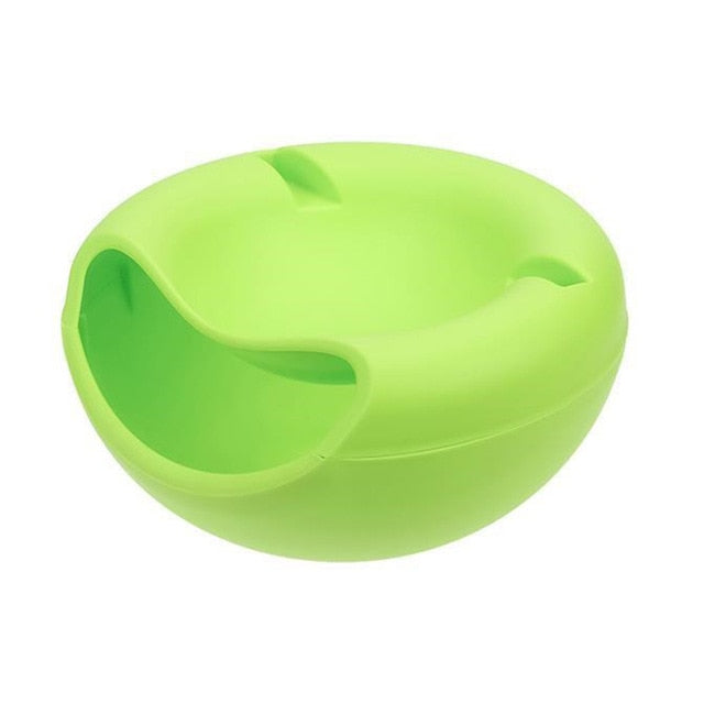 Lazy Snack Bowl Plastic Double-Layer Snack Storage Box Bowl Fruit Bowl And Mobile Phone Bracket