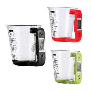 New Kitchen Measuring Cup Digital Electronic Scale With LCD Display Multifunctional Temperature Liquid Measurement Cups