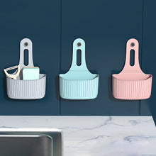 Load image into Gallery viewer, Sink Shelf Soap Sponge Drain Rack Silicone Storage Basket Bag Faucet Holder Adjustable Bathroom Holder Sink Kitchen Accessorie