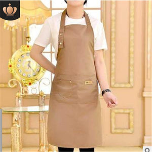 2020 Solid Cooking Kitchen Apron Chef Waiter Cafe Shop BBQ
