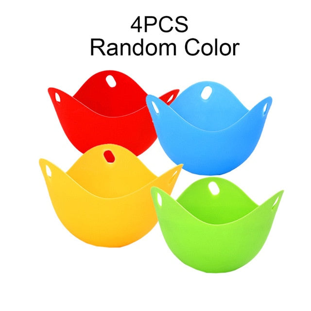 4pcs Silicone Egg Poacher Poaching Pods Pan Mould Kitchen Cooking Tool Accessory Cocina Gadget Accesorios