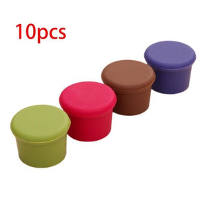 10 Pcs Reusable Wine Beer Cover Bottle Cap Silicone Stopper Beverage For Home Bar Stopper Cover Barware