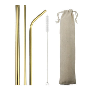 Stainless Steel Collapsible Straw Set Reusable Telescopic Drinking Straw Portable Straw For Travel Metal Drink Straw Brush