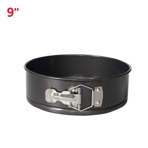 Black Carbon Steel Cakes Molds Non-Stick Metal Bake Mould Round Cake Baking Pan Removable Bottom Bakeware Cake Supplies