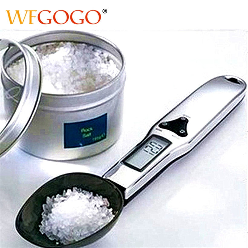 300g/0.1g Portable LCD Digital Kitchen Scale Measuring Spoon Gram Electronic