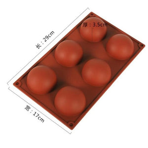 3d Hemispherical Silicone Mold 6/15/24 Hole Food Grade Baking Mold