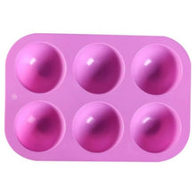 Load image into Gallery viewer, 3d Hemispherical Silicone Mold 6/15/24 Hole Food Grade Baking Mold