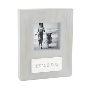 Beach Dog Wood Frame