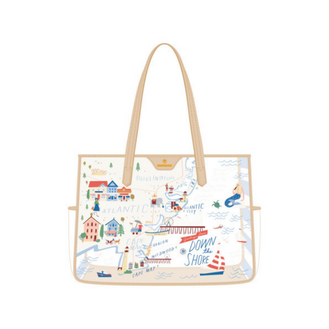 Down the Shore Clear Beach Tote