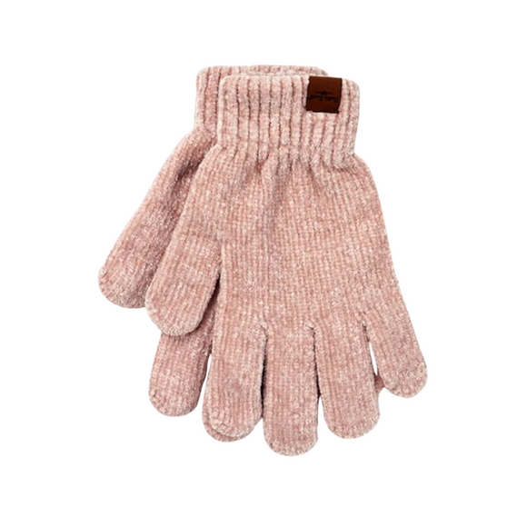 Blush Chenille Gloves