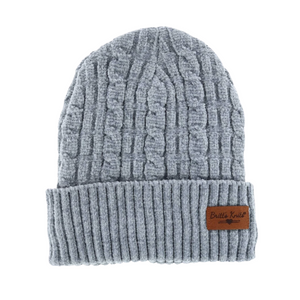 Grey Soft Chenille Hat