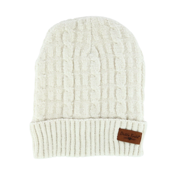 Oatmeal Soft Chenille Hat