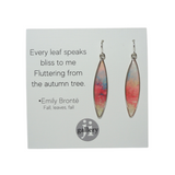 Pink Abstract Surf Earrings