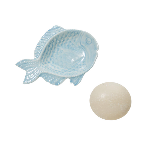 Fish Dish & Milled Soap Set
