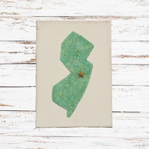 Green Sea Glass NJ Canvas