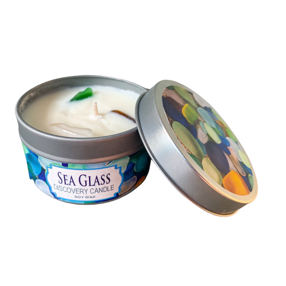 Sea Glass Candle Tin