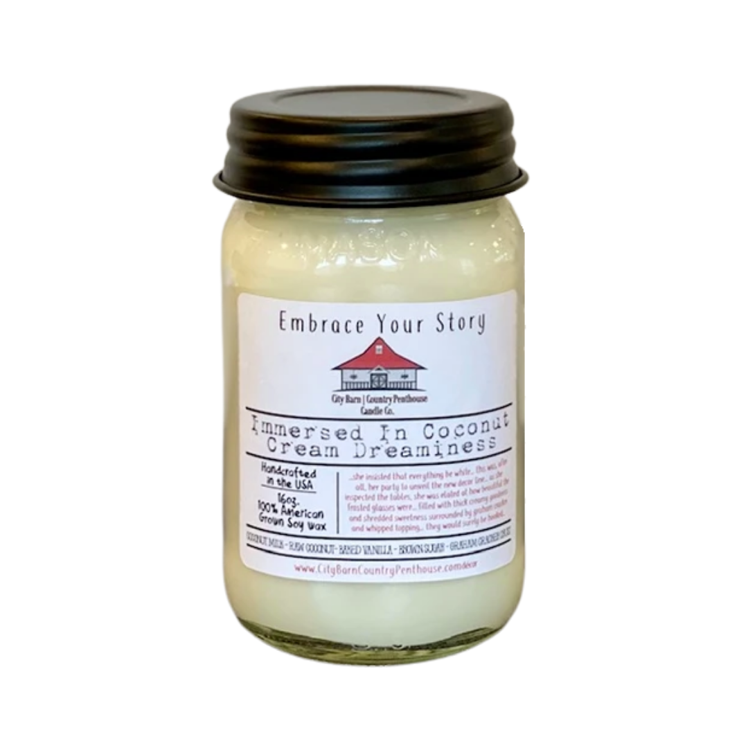 Immersed in Coconut Cream Dreaminess Candle