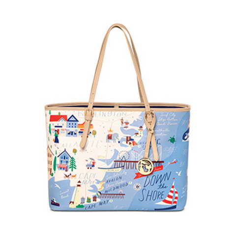 Down the Shore Large Tote