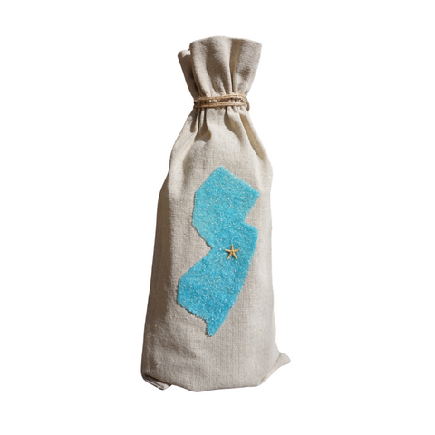 NJ Sea Glass Wine Bag