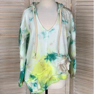 French Terry Tie-Dye V-Neck