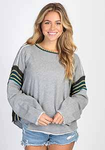 Trim Sweatshirt Heather