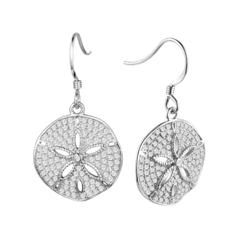 Sand Dollar Pave Earrings