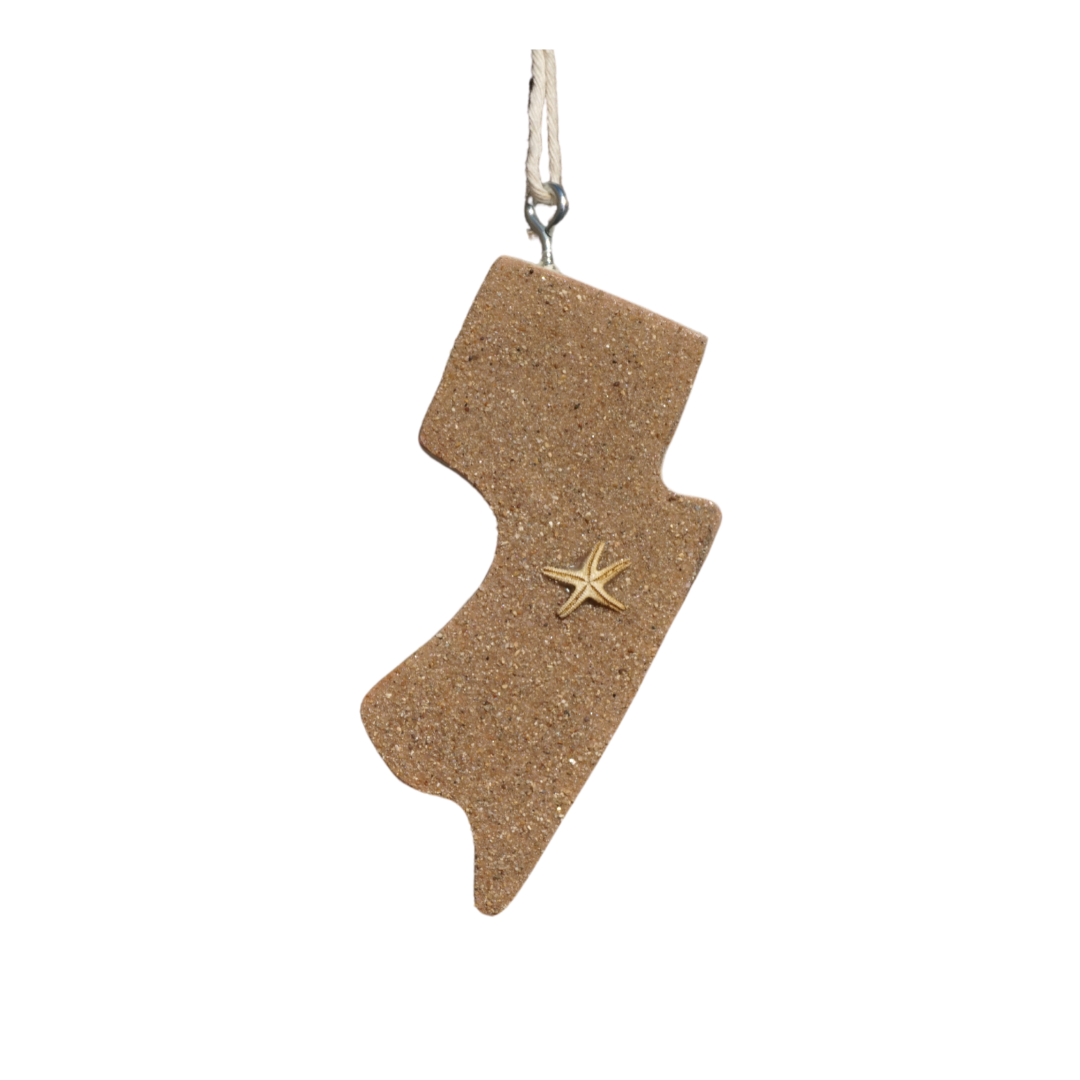 Sand New Jersey Wood Cutout Tag
