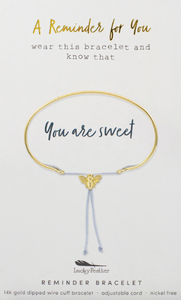 You Are Sweet Reminder Bracelet