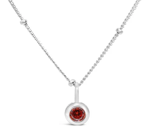 January Birthstone Necklace