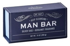 Sage & Bergamot Man Bar Soap