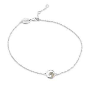 Jersey Shore Sand Delicate Wave Anklet