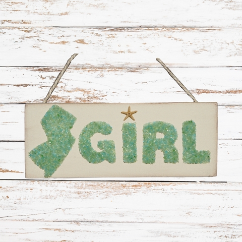Sea Glass Jersey Girl Sign