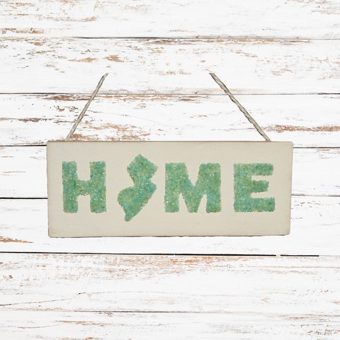 Sea Glass NJ Home Sign