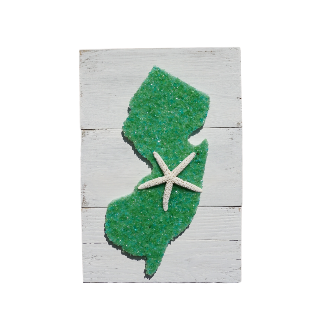 Solid Green NJ on Wood