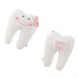 Pink Knitted Tooth Pillow