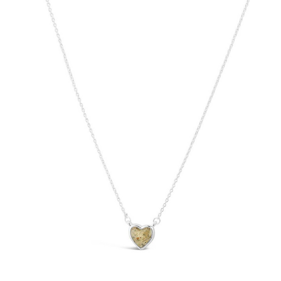 Jersey Shore Sand Delicate Heart Necklace