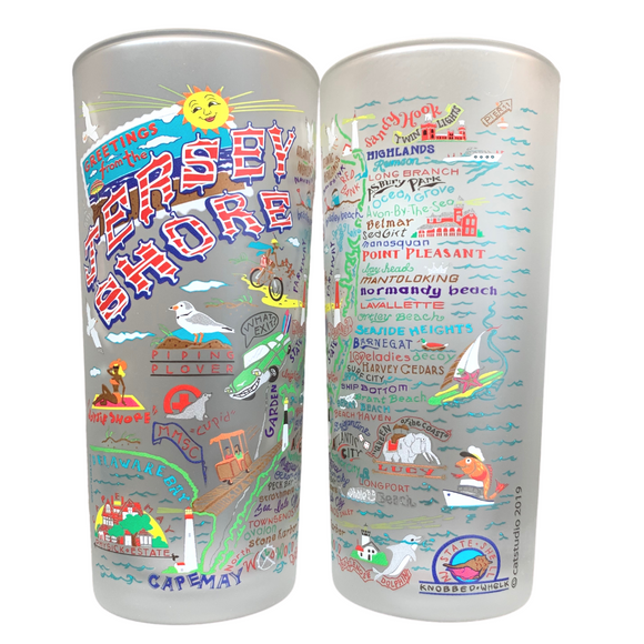 Jersey Shore Glasses Set of 2