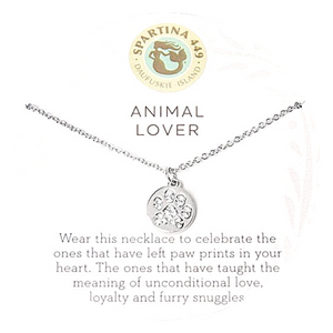 Animal Lover Paw Print Necklace