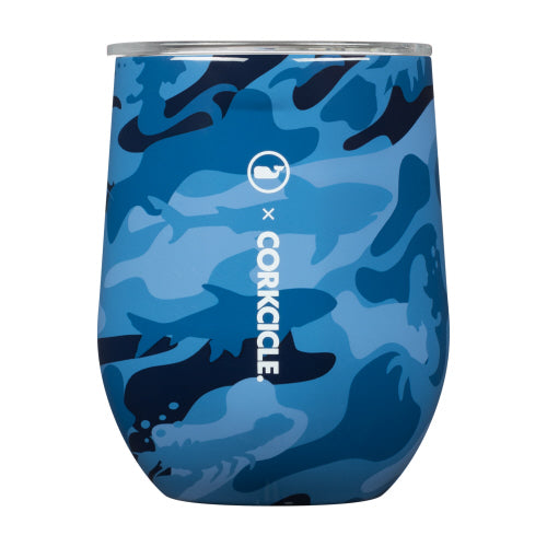 Blue Camo Stemless Cup