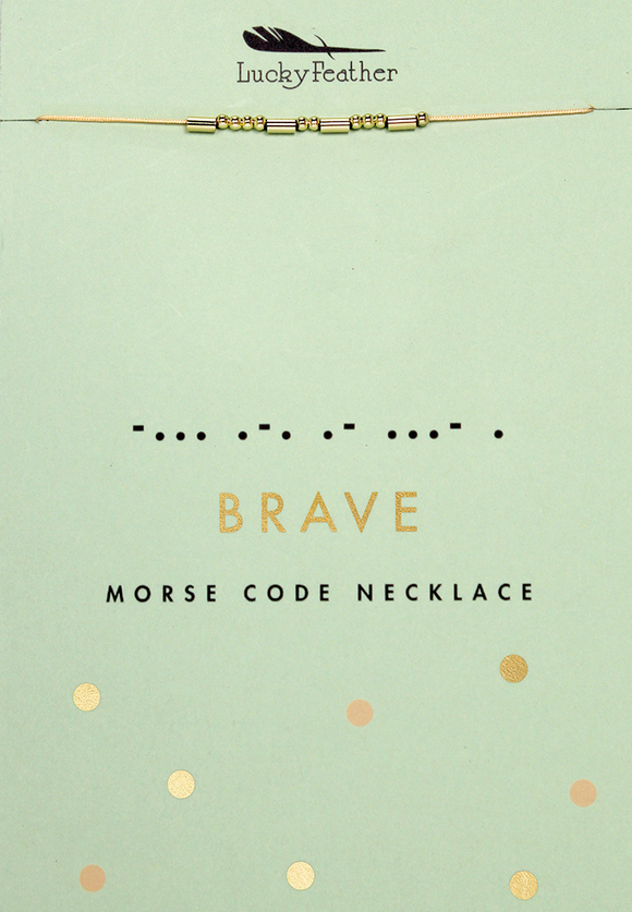 Brave Morse Code Necklace