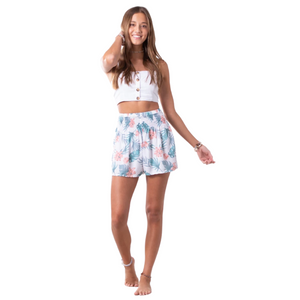 Tropical Shorts Coral + Mint