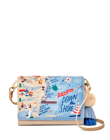 Down The Shore Embroidered Crossbody