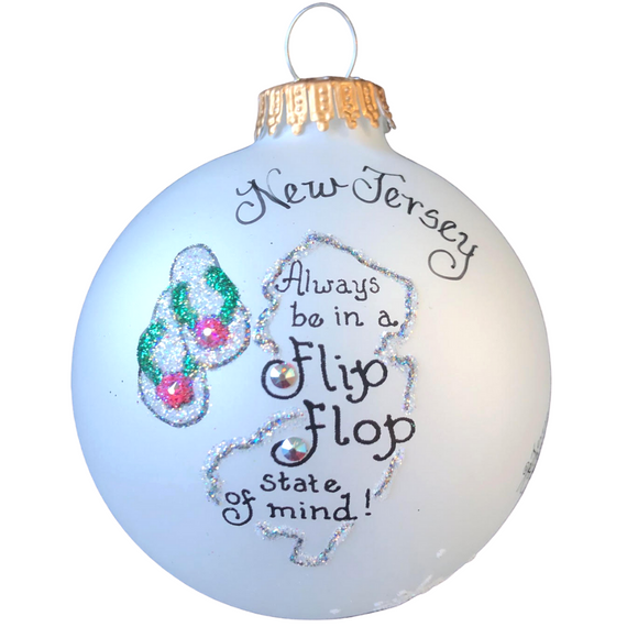 New Jersey Flip Flop Ornament