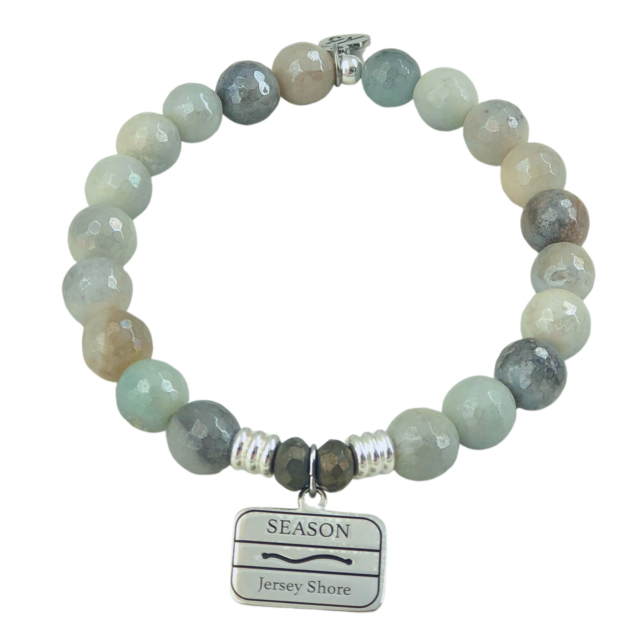 Jersey Shore Badge Amazonite Bracelet