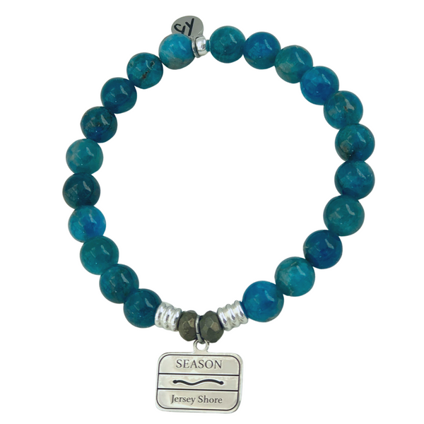 Jersey Shore Season Badge Arctic Apatite Bracelet