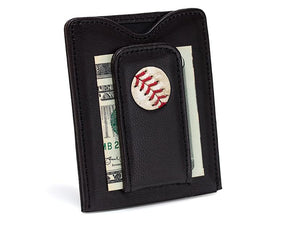 Mets Game Used Baseball Money Clip Wallet